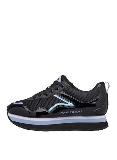 Armani Exchange Armani Exchange Kadın Siyah-Mavi Sneaker Siyah